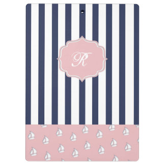 girly nautical clipboard