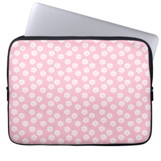 Girly Pastel Pink Floral Pattern. Laptop Sleeve