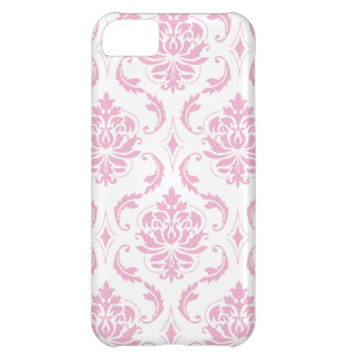Girly Pink Damask Pattern iPhone 5C Case