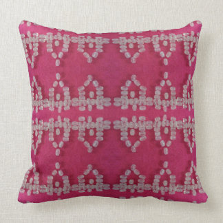 Girly Pink Fancy Shabby Chic Designer Pillow