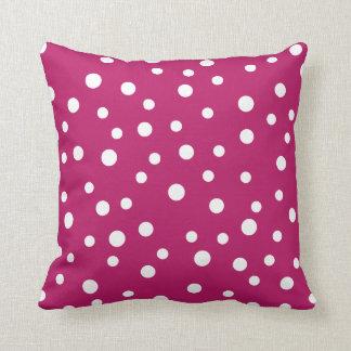 Girly Pink Polka Dots Pillow