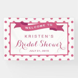 Girly Pink Polka Dots Ribbon Bridal Shower