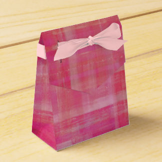 Girly Pink Stripes Favour Box