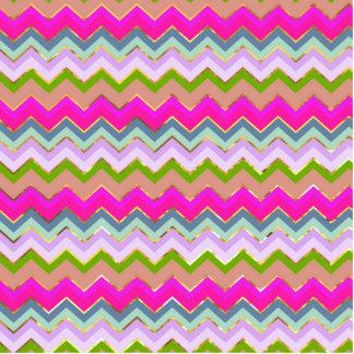 Girly Pink Teal Chevron Gold Glitter Photo Print Photo Cutout