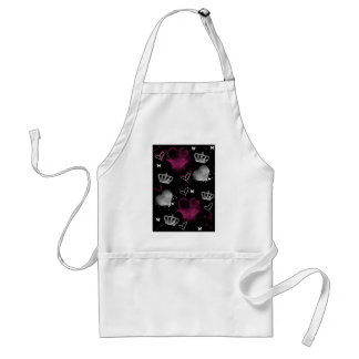 Girly Queen of hearts Apron