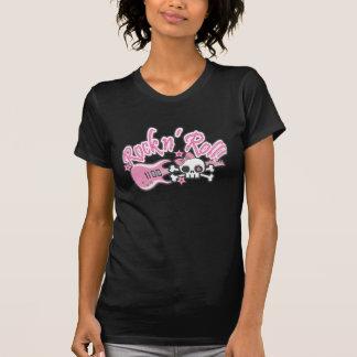 Girly Rock n' Roll Skull T-Shirt