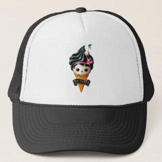 Girly Skull Ice Cream Cone Trucker Hat