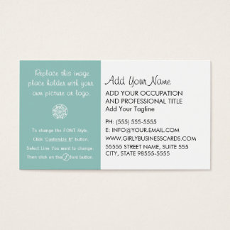 Girly Template Instructions Business Card