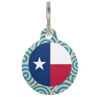 Girly Texan Flag Gift Pet Tag