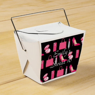 Girly things takeout container favour box