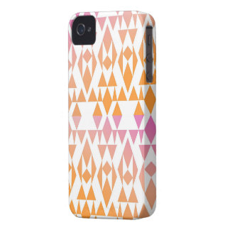 Girly Triangles Geometric Pink Orange Abstract iPhone 4 Covers