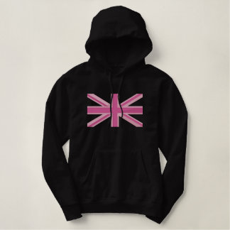 Girly Union Jack Flag England Swag Embroidery Embroidered Hoody