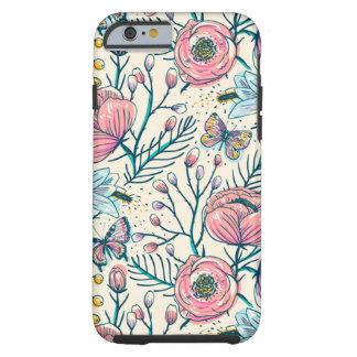 Girly Vintage Rose Garden Flower Pattern Tough iPhone 6 Case