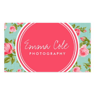 Girly Vintage Roses Floral Print Pack Of Standard Business Cards