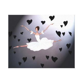 GISELLE SPIRIT DANCE. BLACK MOURNING BALLET CANVAS