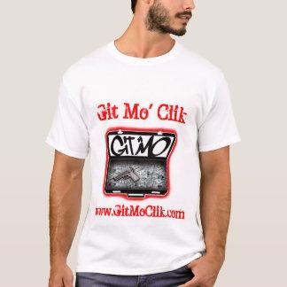 Git Mo' Clik White Tee (Red Text)