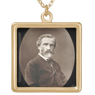 Giuseppe Verdi (1813-1901) from 'Galerie Contempor Gold Plated Necklace