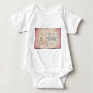 Give Glory to God Poem by Kathy Clark Baby Bodysuit