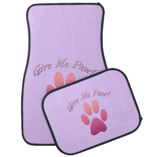 Give Me Paw (pink) Car Mat