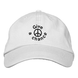 Give Peace A Chance Embroidered Hat