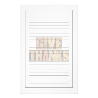 Give Thanks - Thanksgiving Concept - Isolated Stationery