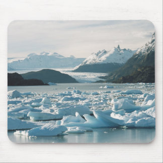Glacial Icebergs Mouse Pad
