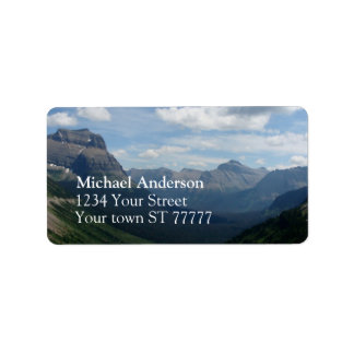 Glacier National Park Address label