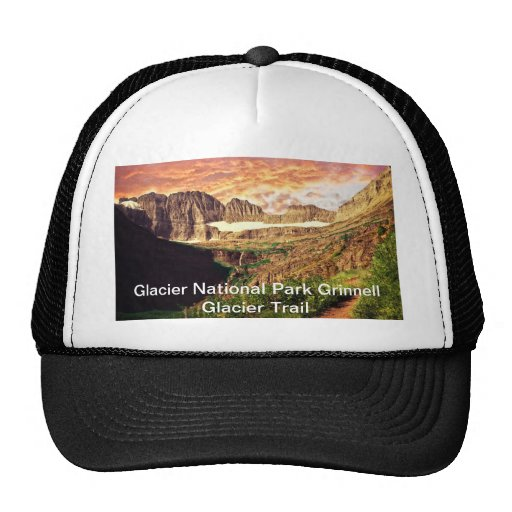 Glacier National Park Grinnell Glacier Trail Trucker Hats