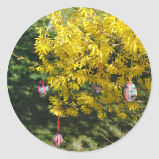 Glad Easter Round Sticker