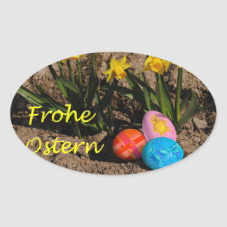 Glad Easter Oval Stickers