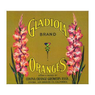 Gladiola Brand Citrus Crate Label Canvas Prints