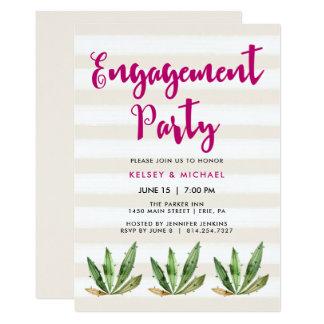 Glam Cactus Engagement Party Invitation