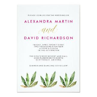 Glam Cactus Wedding 13 Cm X 18 Cm Invitation Card