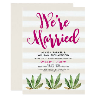 Glam Cactus   We're Married Announcement