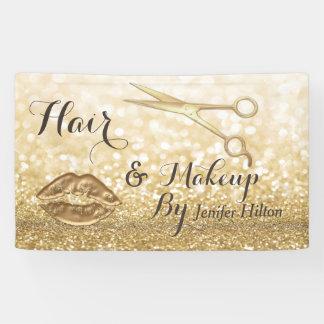 Glam chic Gold faux glitters scissors lips
