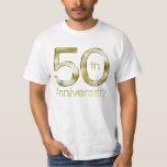 Glam Gold 50th Anniversary Tee Shirt