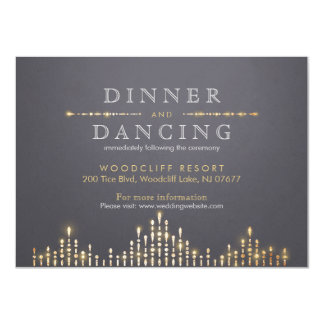 Glam gold art deco vintage wedding reception card