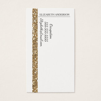 Glam Gold Faux Glitter Stripe Business Card