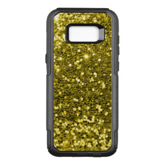 Glam Gold Faux Glitter Yellow Gold Tone OtterBox Commuter Samsung Galaxy S8+ Case