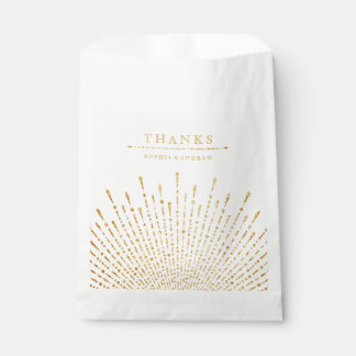 Glam gold glitter deco vintage wedding thank you favour bags