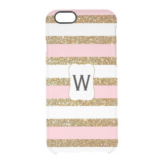 Glam Gold Stripes Clear iPhone 6 Case