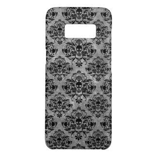 Glam Goth Mini Skull Damask Pattern Black Grey Case-Mate Samsung Galaxy S8 Case