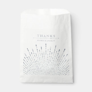 Glam silver glitter deco vintage wedding thank you favour bags