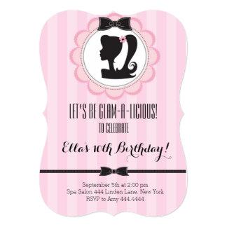 Glam Spa Birthday Party Invitation