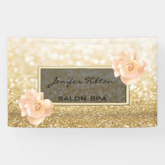 Glamorous modern chic faux gold glittery roses