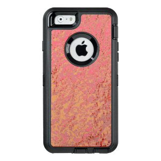 Glamorous Pink Tangerine Yellow Speckled Pattern OtterBox iPhone 6/6s Case