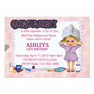 Glamour Party Personalized Announcements