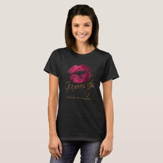 Glamourous Hot Pink Glitter Lips T-Shirt