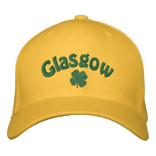 Glasgow - Four Leaf Clover Embroidered Hats