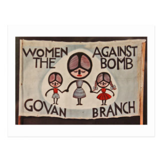 Glasgow Govan Women Against the Bomb Postcard
